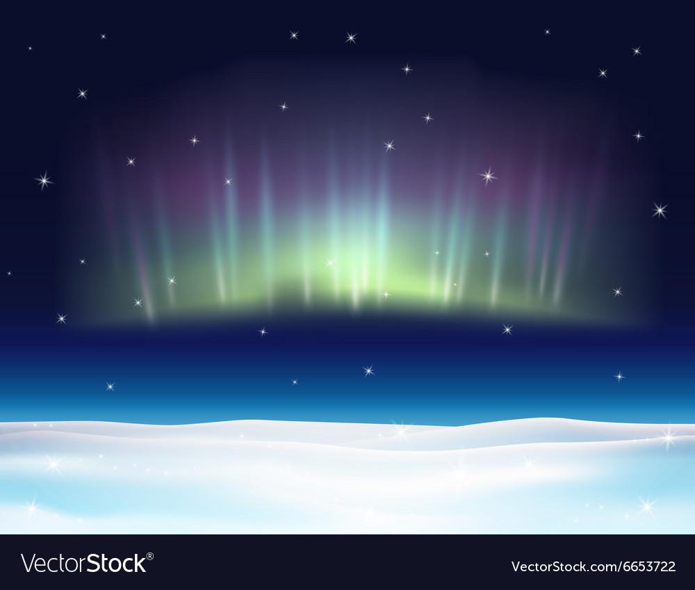 Northern lights background vector image