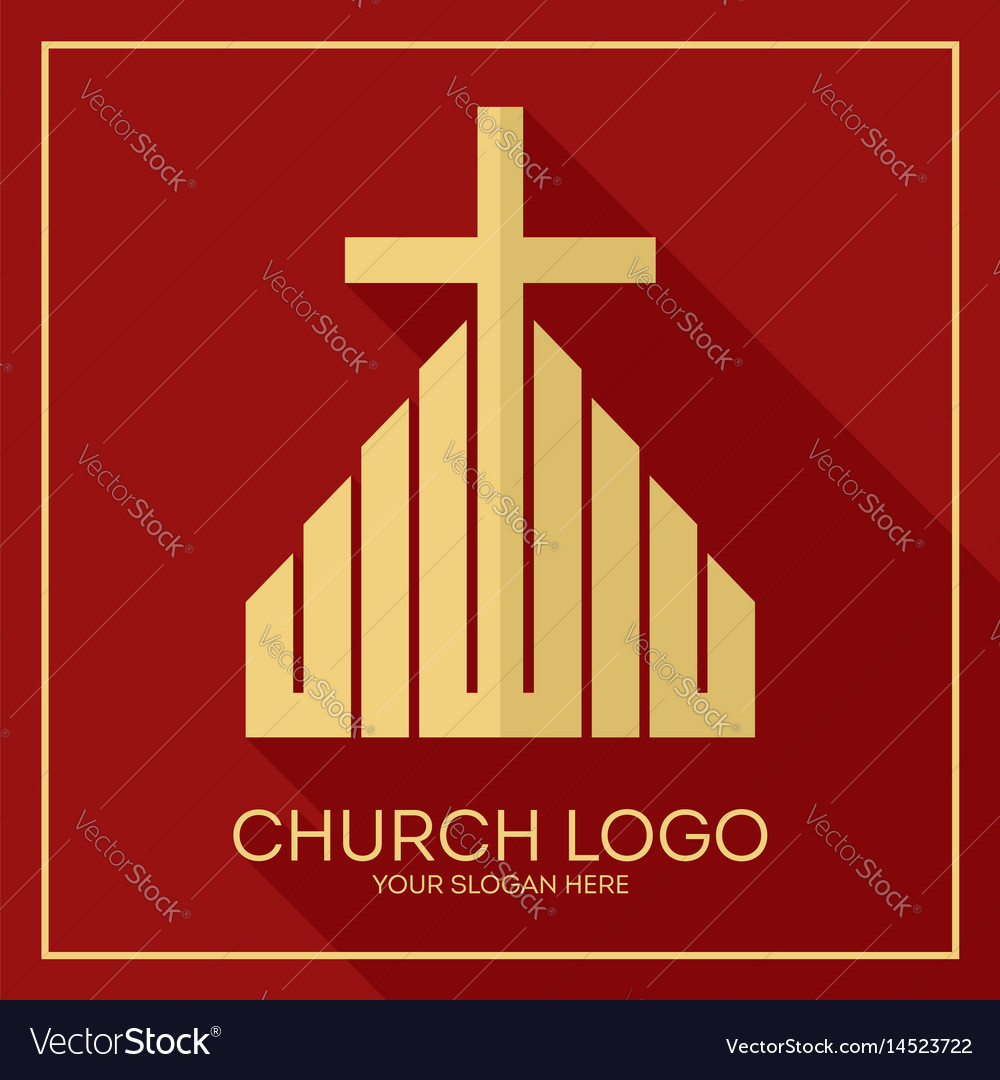 The altar and the cross of christ vector image