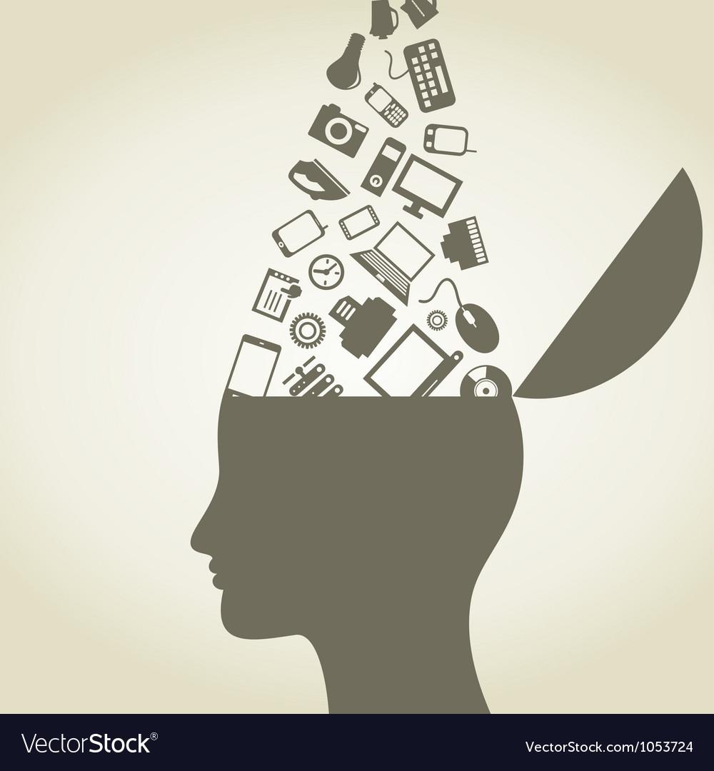 Head idea vector image