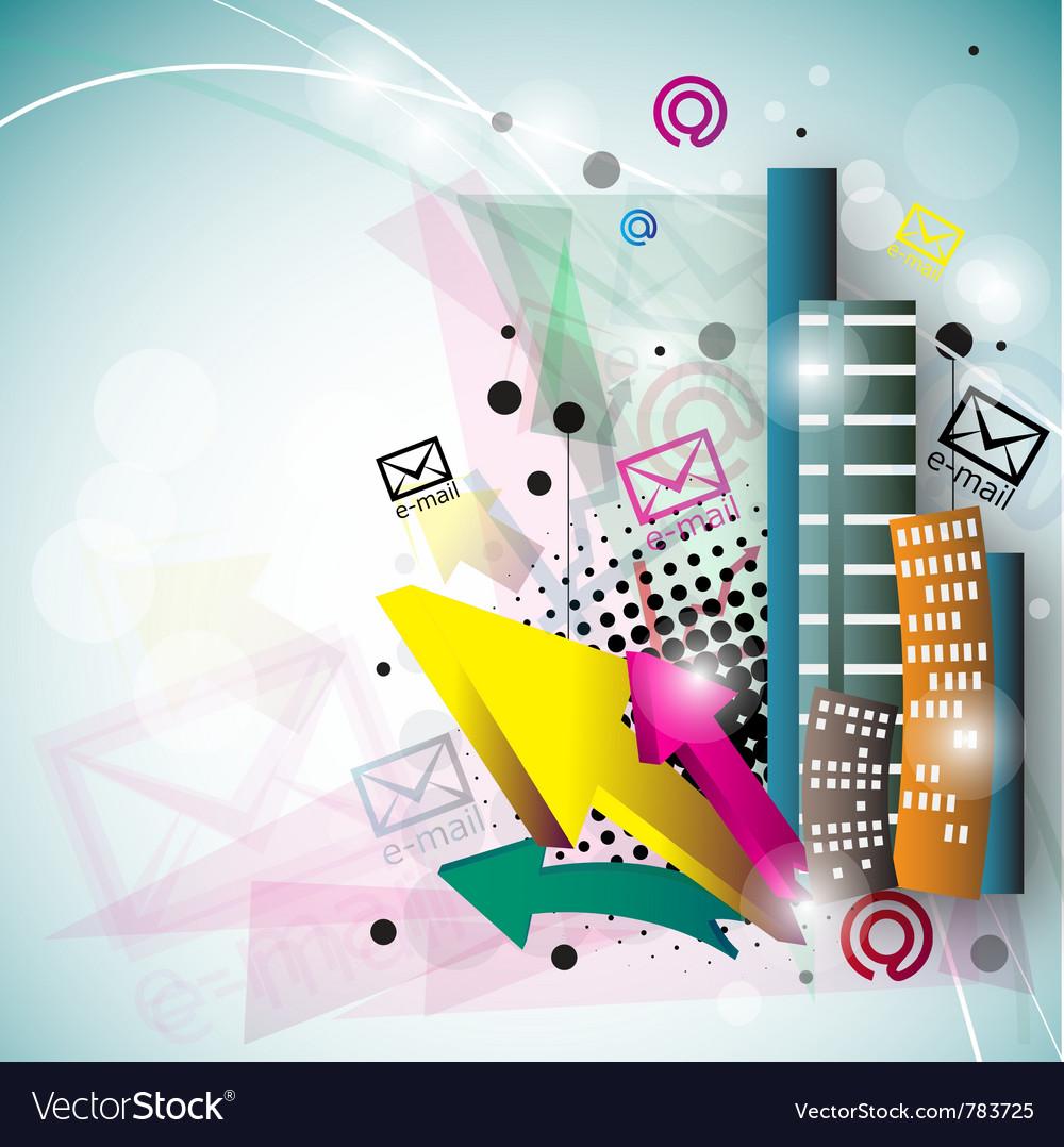 Stylish email background Vector Image by Borovkova - Image #783725 ...
