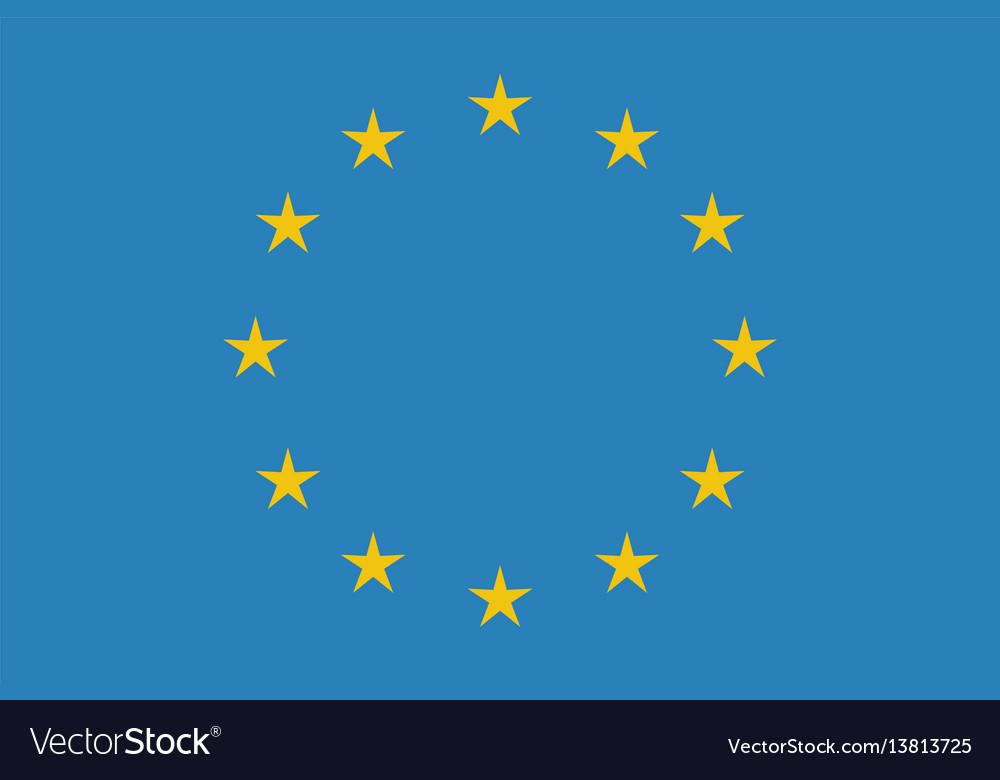 Eu flag in closeup vector image