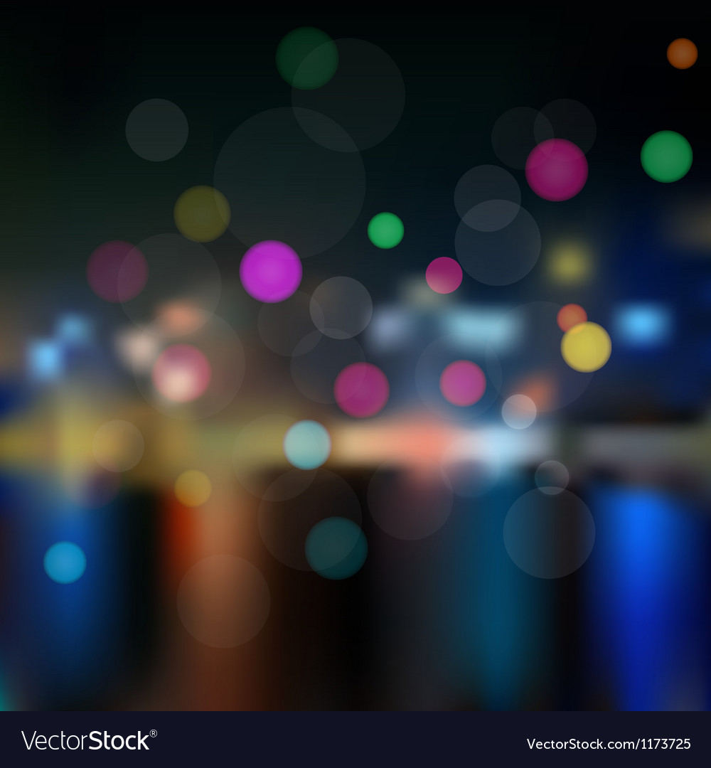 Night in city Background vector image