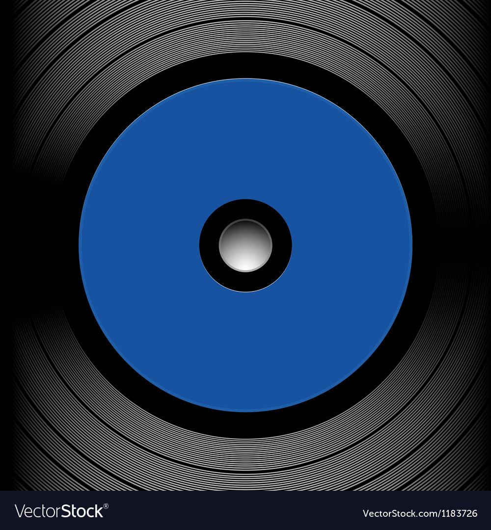 Close up of a record vector image
