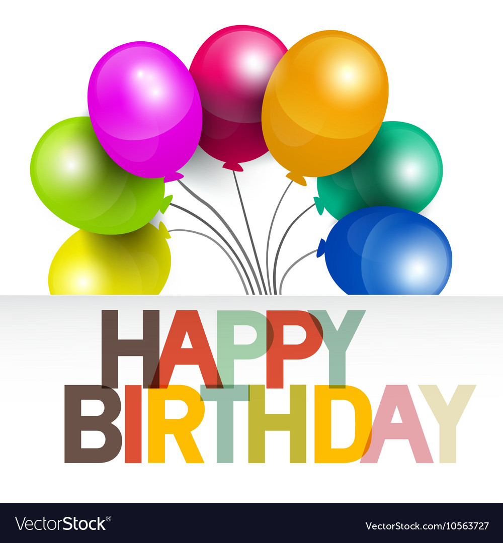Happy Birthday Birthday Card with Colorful vector image