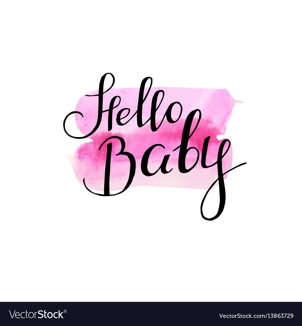 Greeting card for newborn baby girl shower party vector image m4hsunfo
