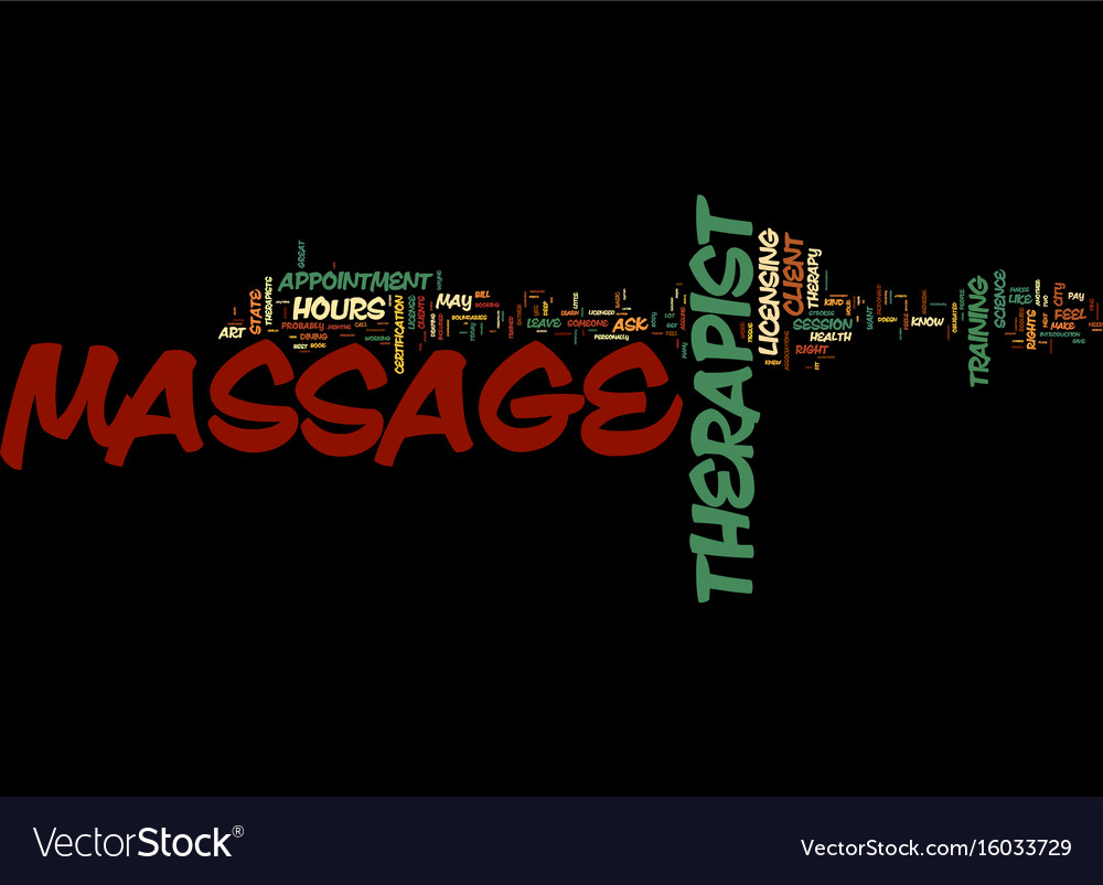 Massage bill of rights text background word cloud vector image