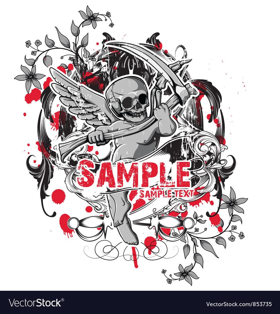 Shirt design vector - Dark Gothic T Shirt Design Vector Image