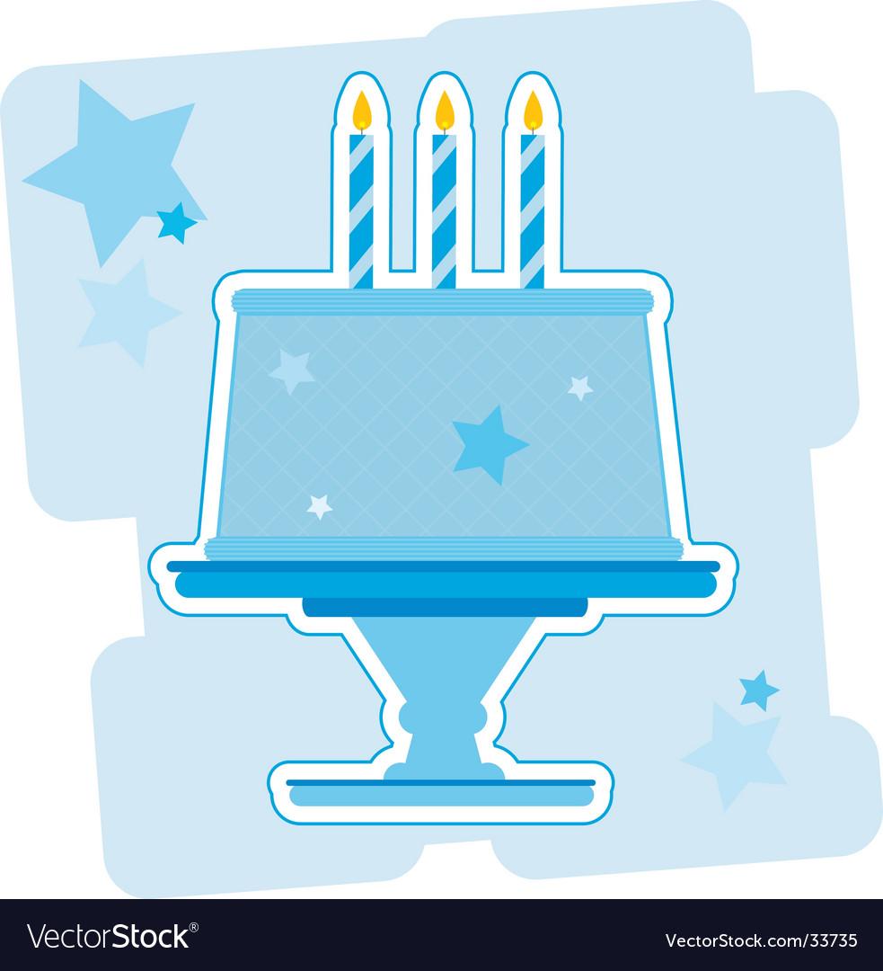 Birthday cake illustration vector image