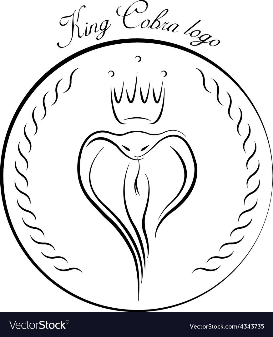 King Cobra logo vector image