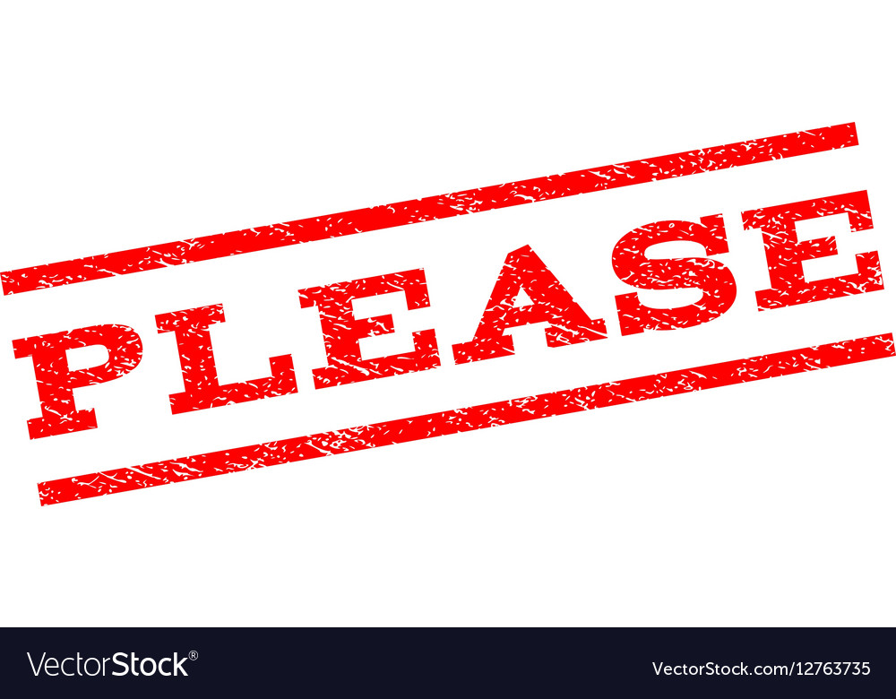 Please Watermark Stamp vector image