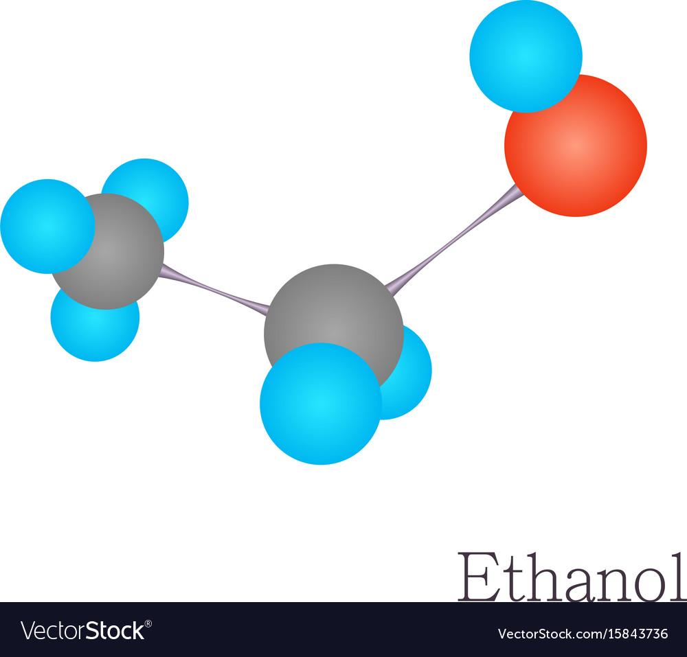 Ethanol 3d molecule chemical science royalty free vector ethanol 3d molecule chemical science vector image buycottarizona