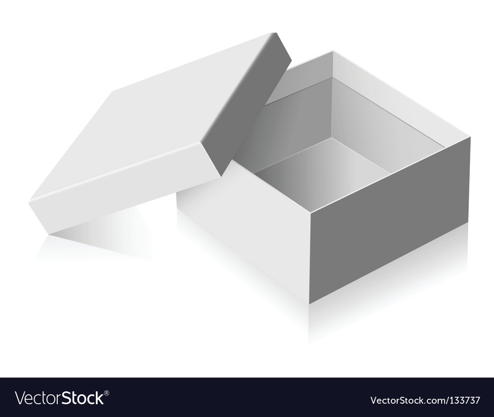 Gray box vector image