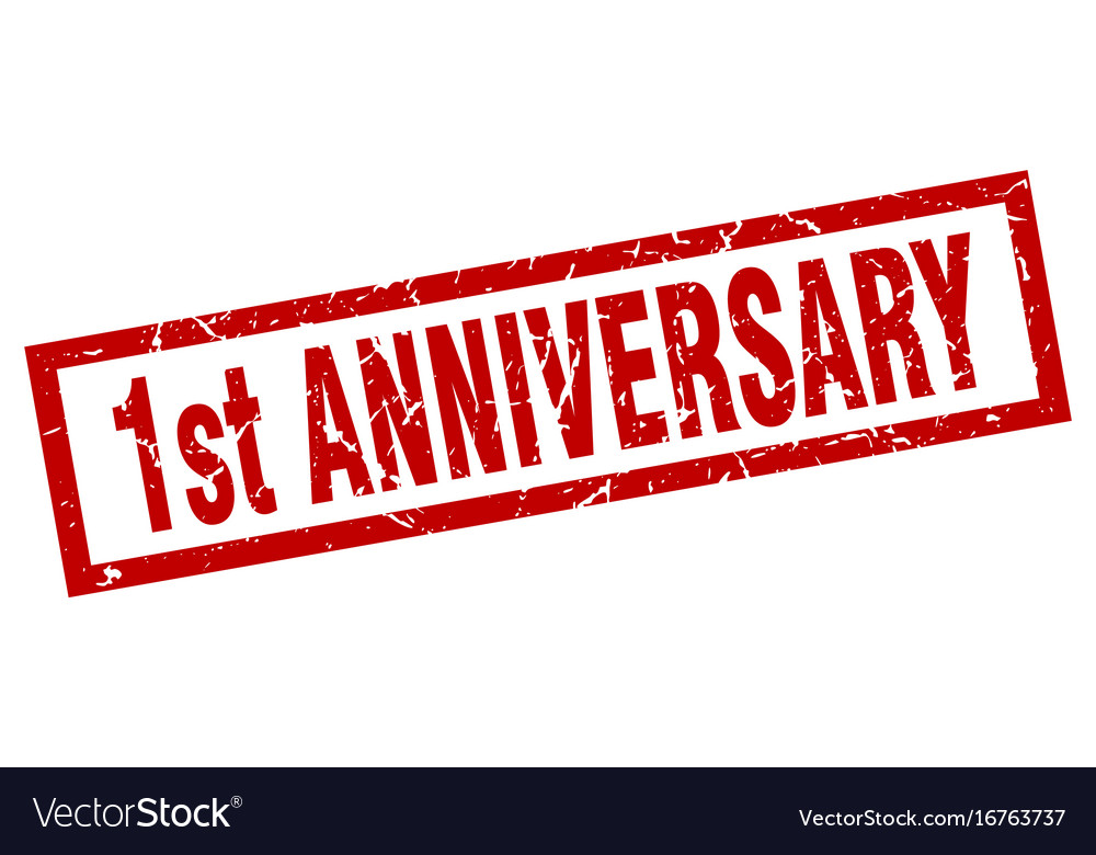 St anniversary celebration card template vector search clip art