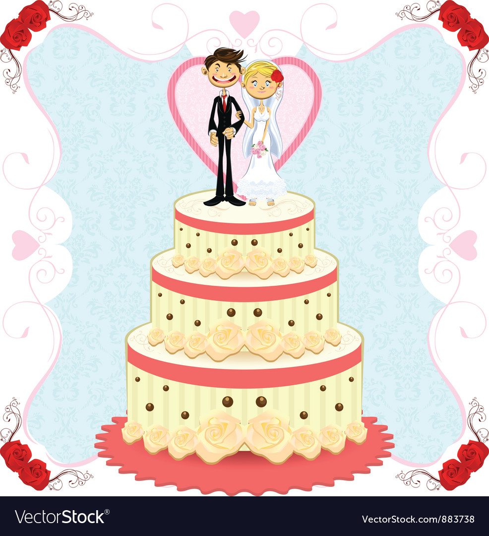 wedding cake vector wedding cake royalty free vector image 26758