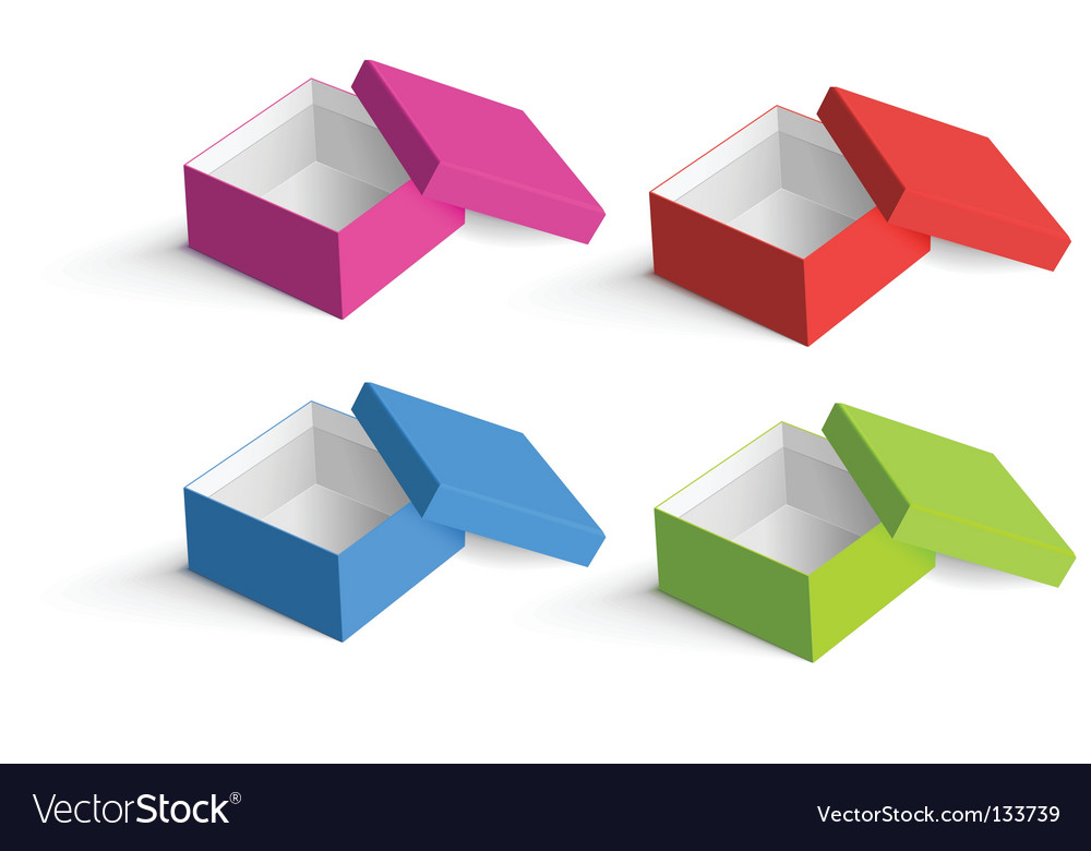 Boxes collection vector image