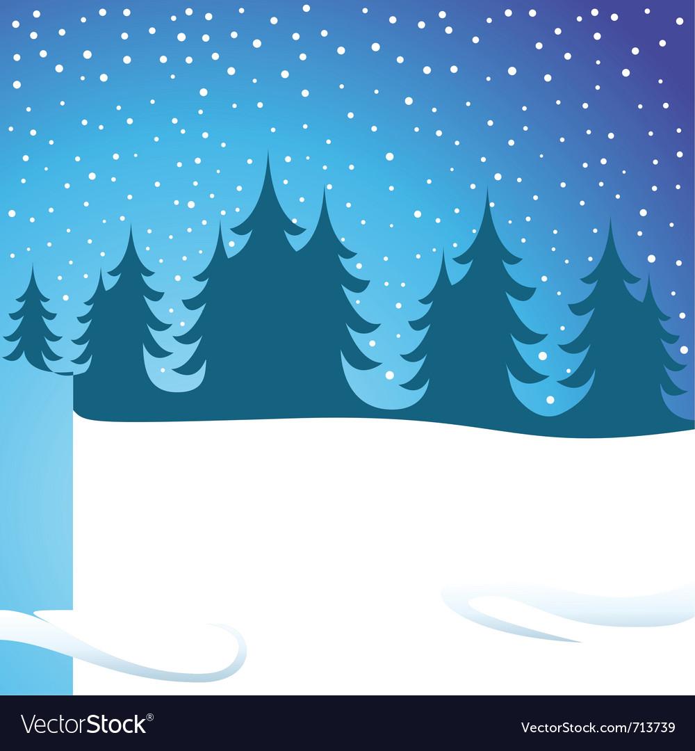 Winters night vector image