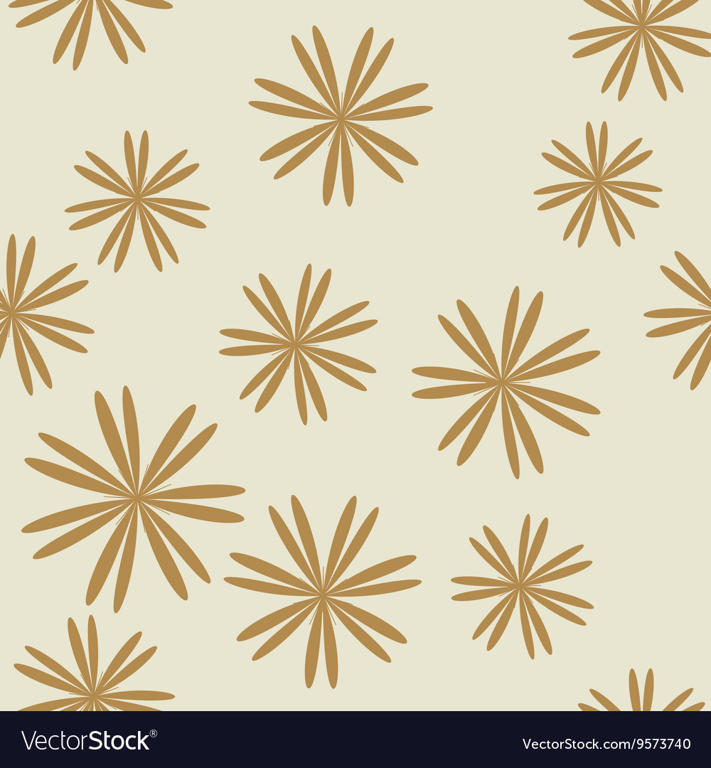 Flower pastel brown seamless pattern vector image
