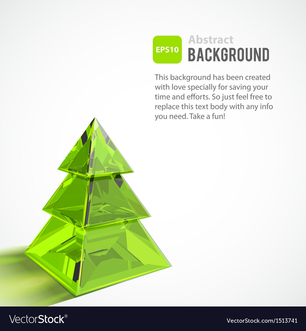 Abstract background with Christmas tree vector image