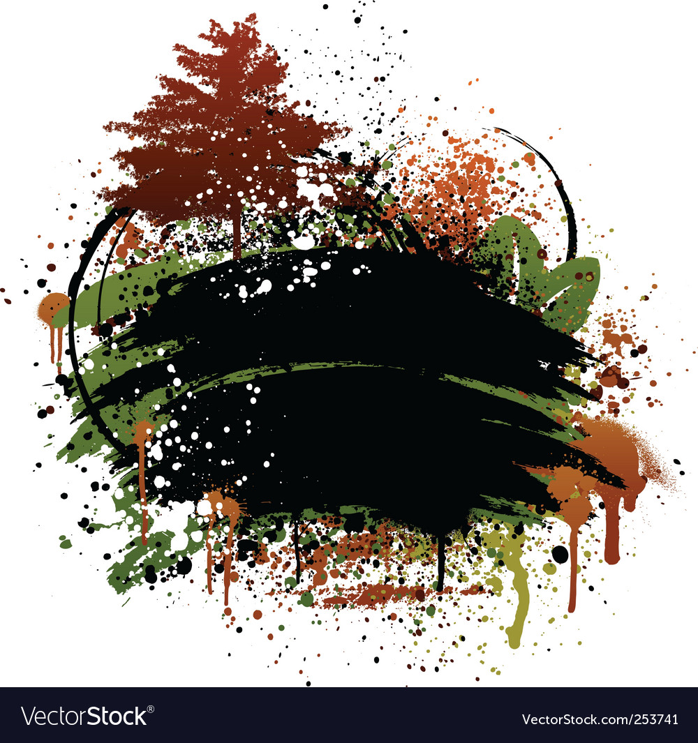 Autumn grunge design vector image