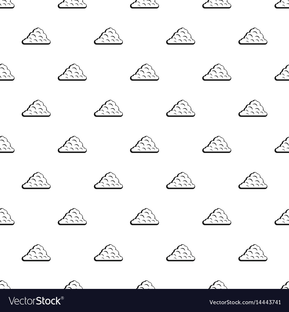 Curly cloud pattern vector image