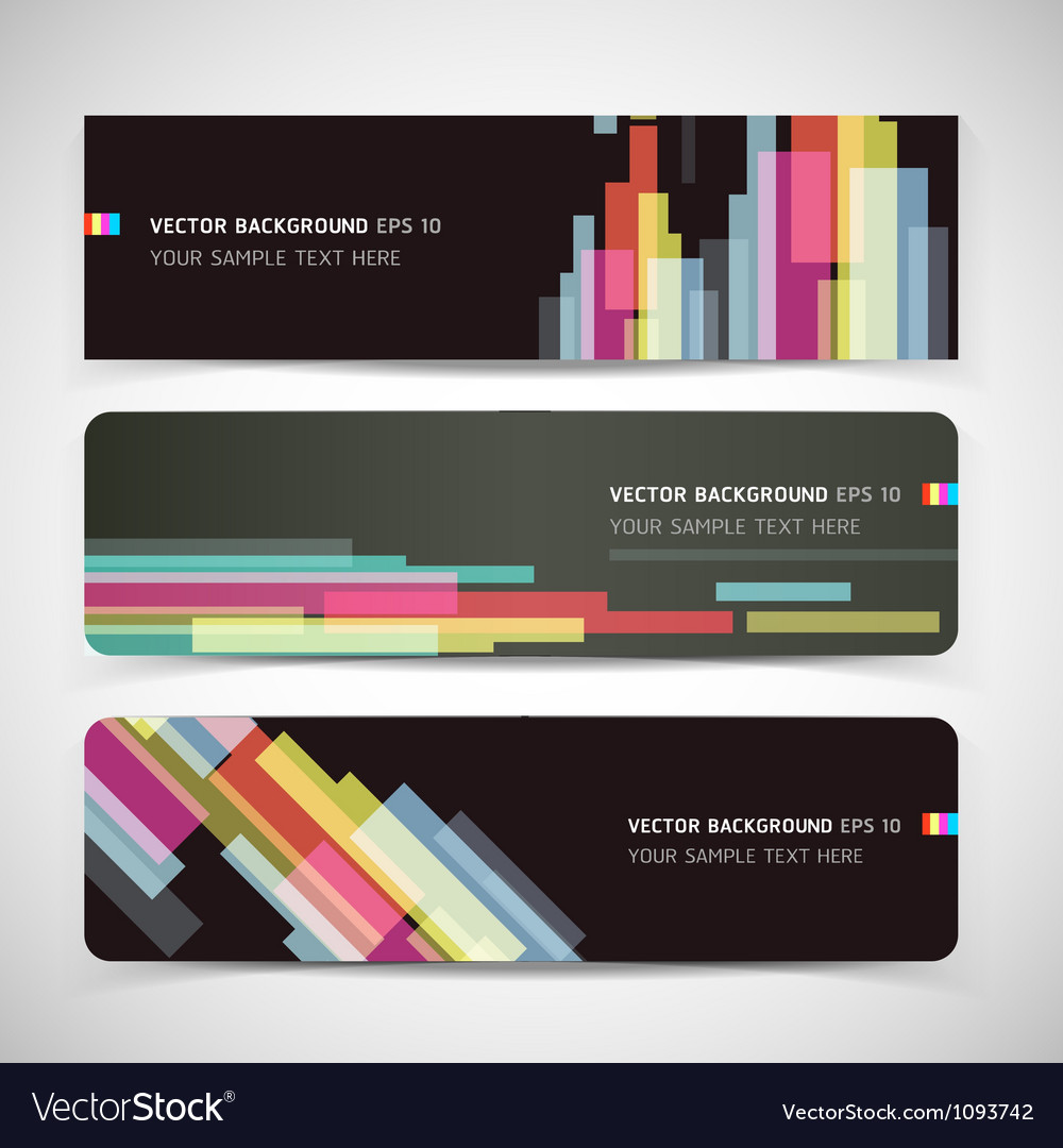 Banner abstract color background vector image