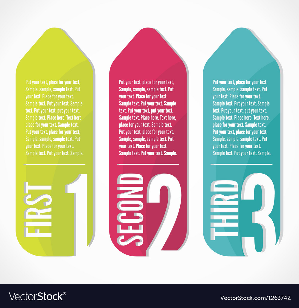 Label Progress background vector image