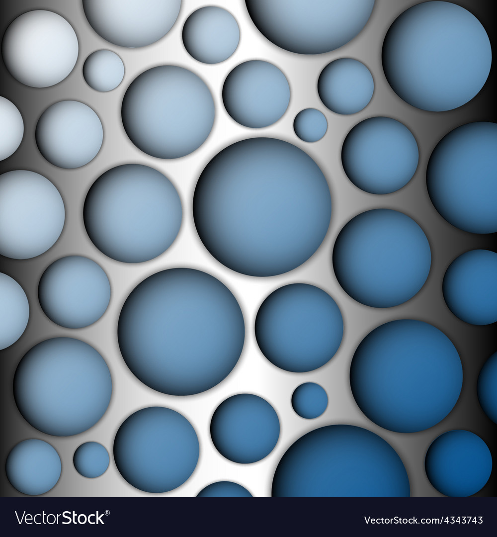 Metal speaker lattice Blue background vector image