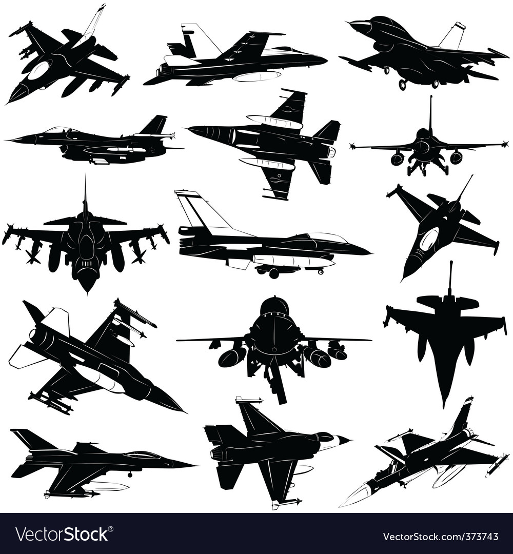Military plane vector image