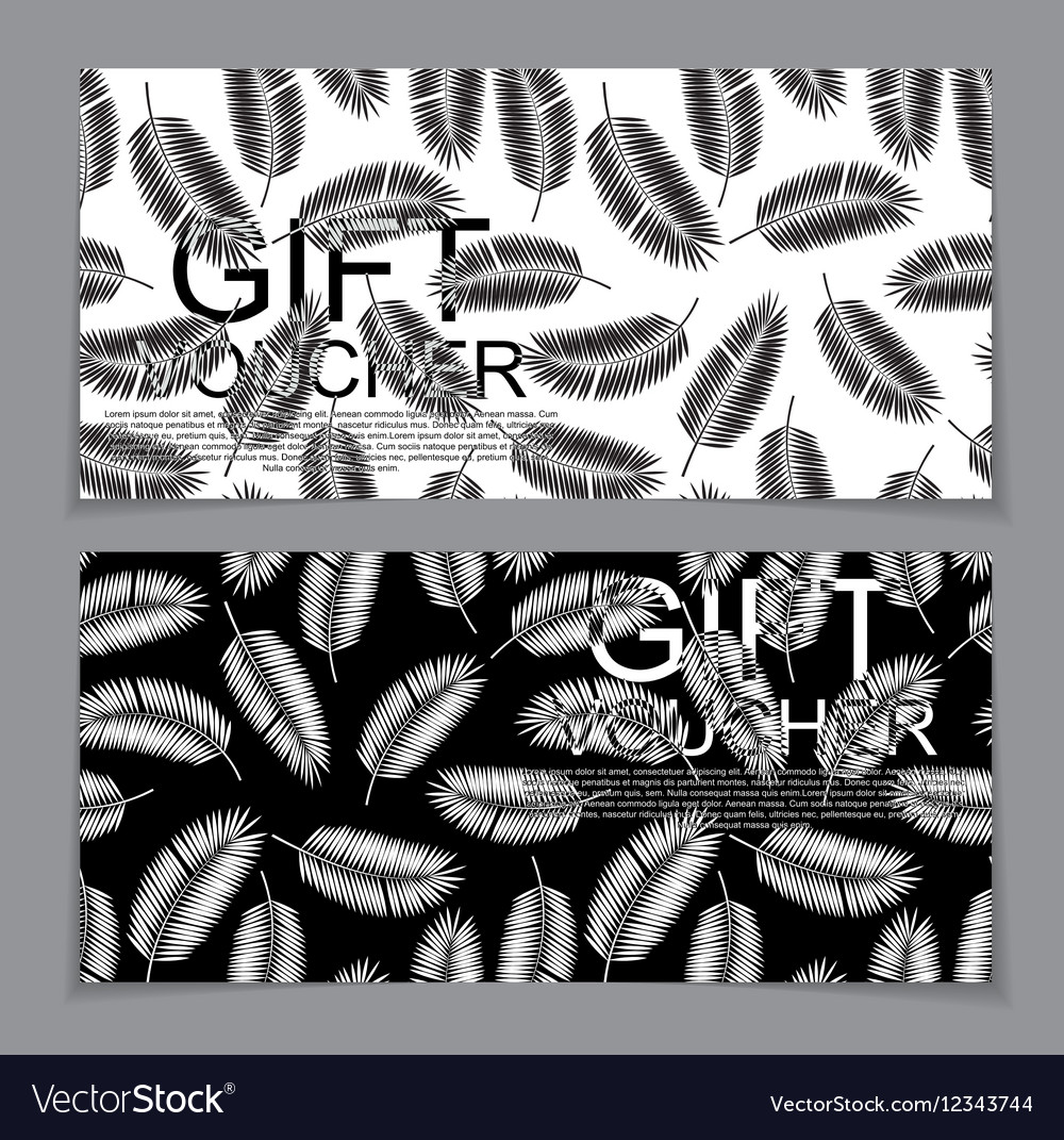 Gift Voucher Template for Summer Natural vector image