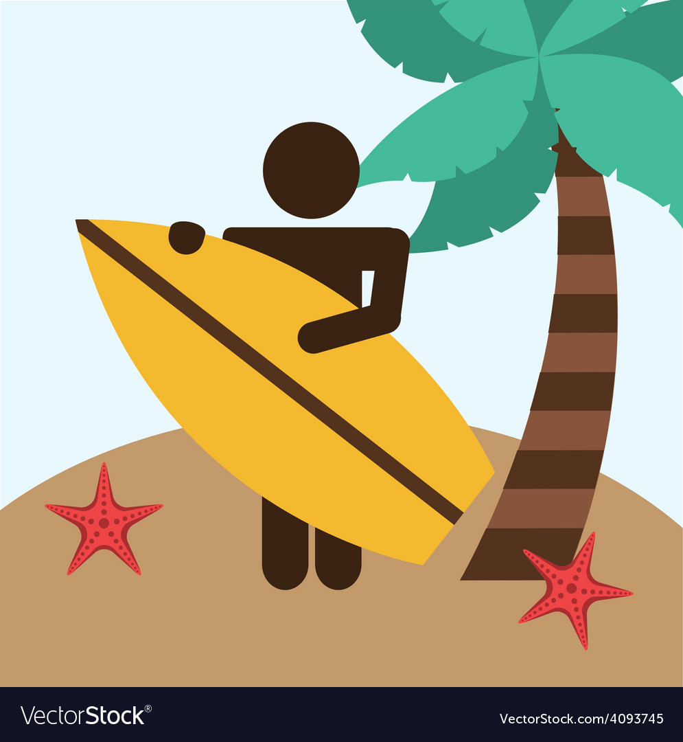 Beach vacations vector image
