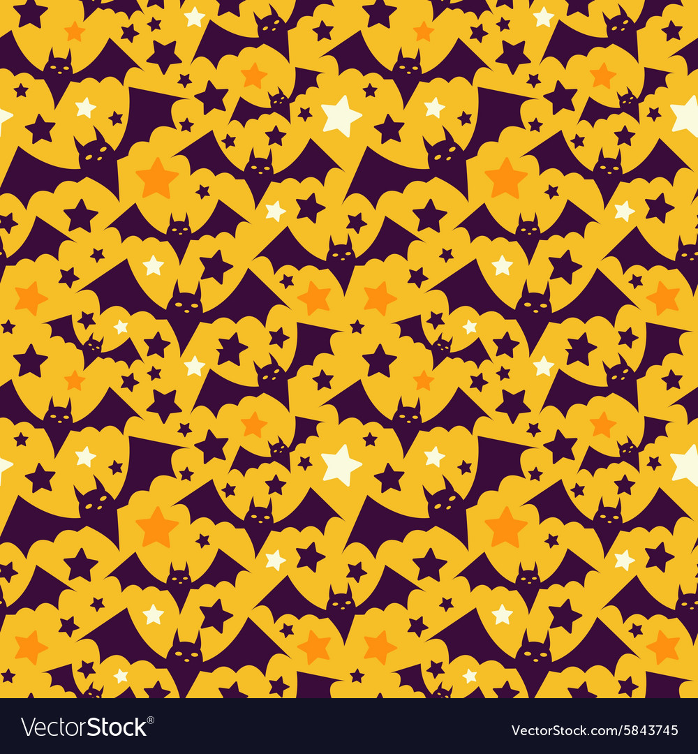 Halloween seamless patterns Royalty Free Vector Image