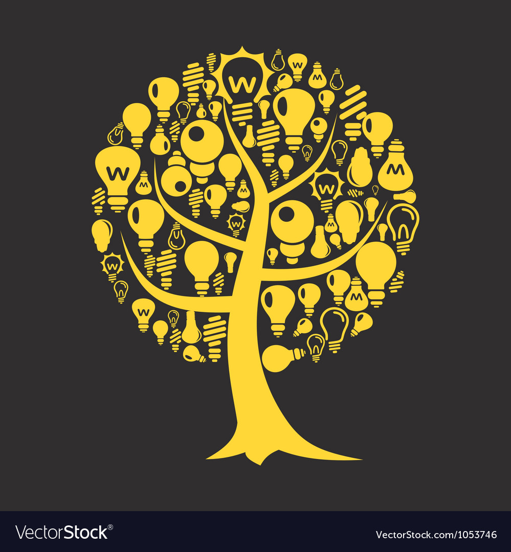 Tree a bulb vector image