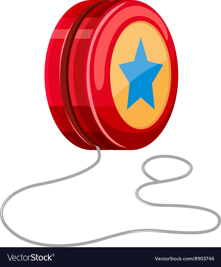 Red yo yo with white string royalty free vector image red yo yo with white string vector image buycottarizona Images