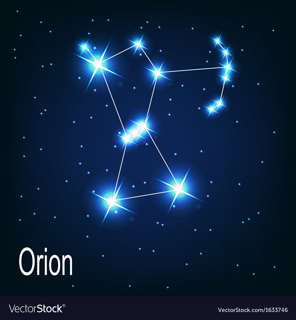 the constellation orion star in the night sky vector image royalty free clip art microsoft free royalty free clip art beast