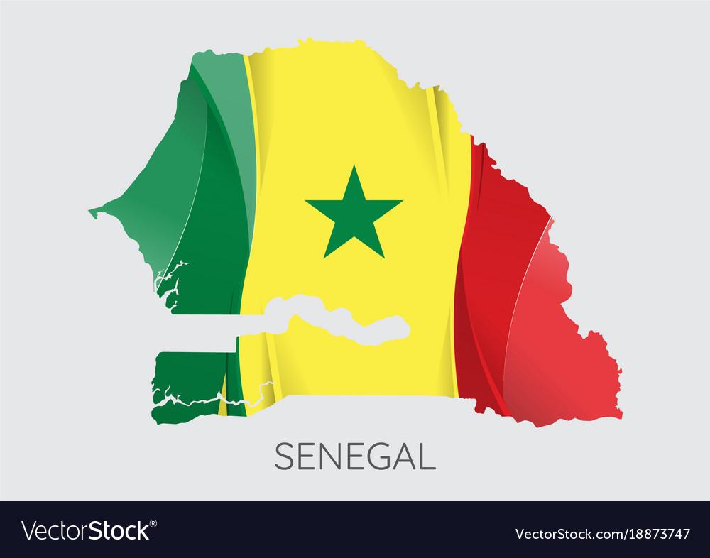 Map Of Senegal Royalty Free Vector Image VectorStock - Senegal map vector
