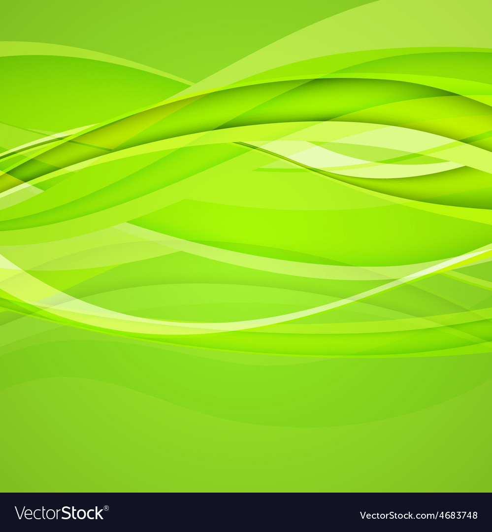 Abstract green background vector image