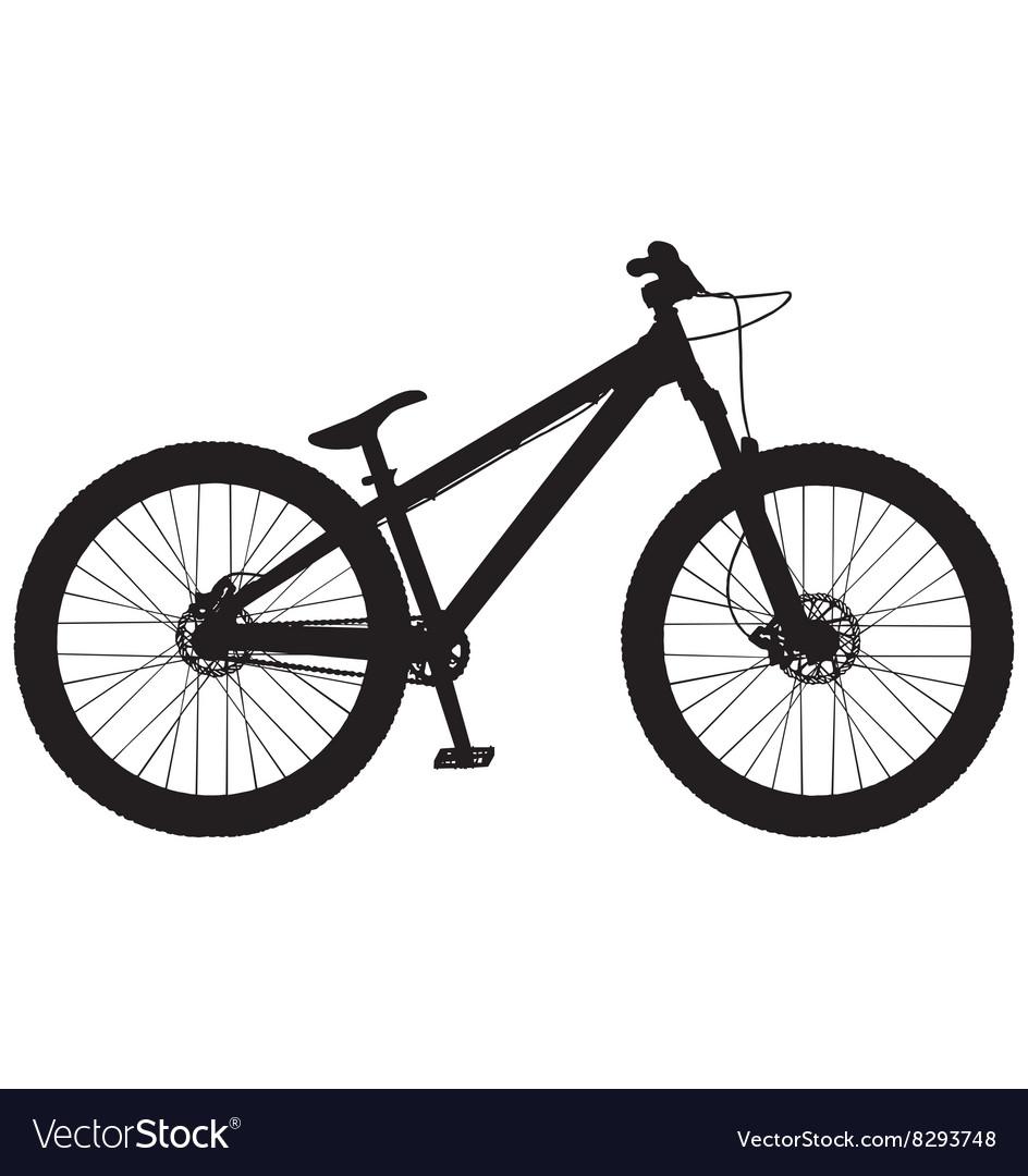 Dirt jump mountain bike vector image