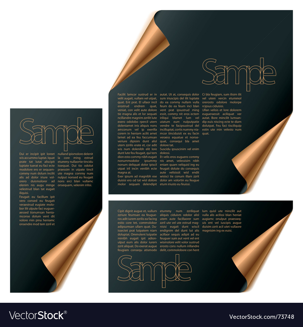 Modules with turned corners vector image