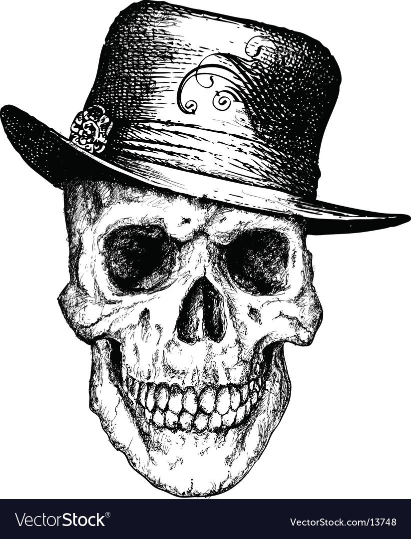Pimp skull illustration vector image