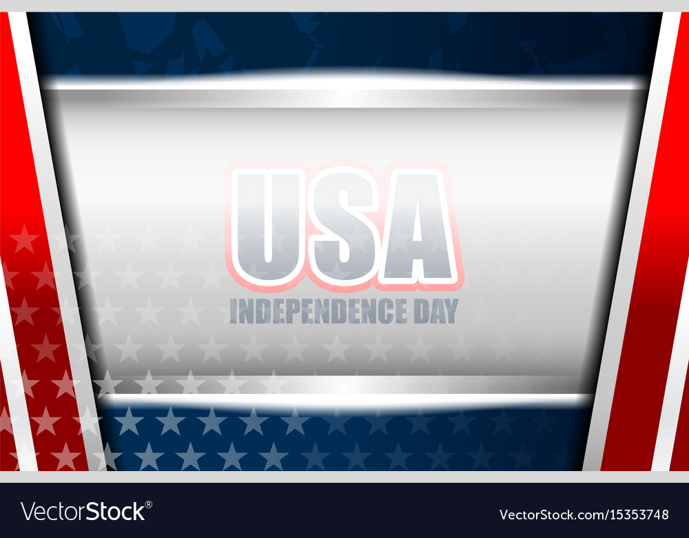 Usa background independence day vector image