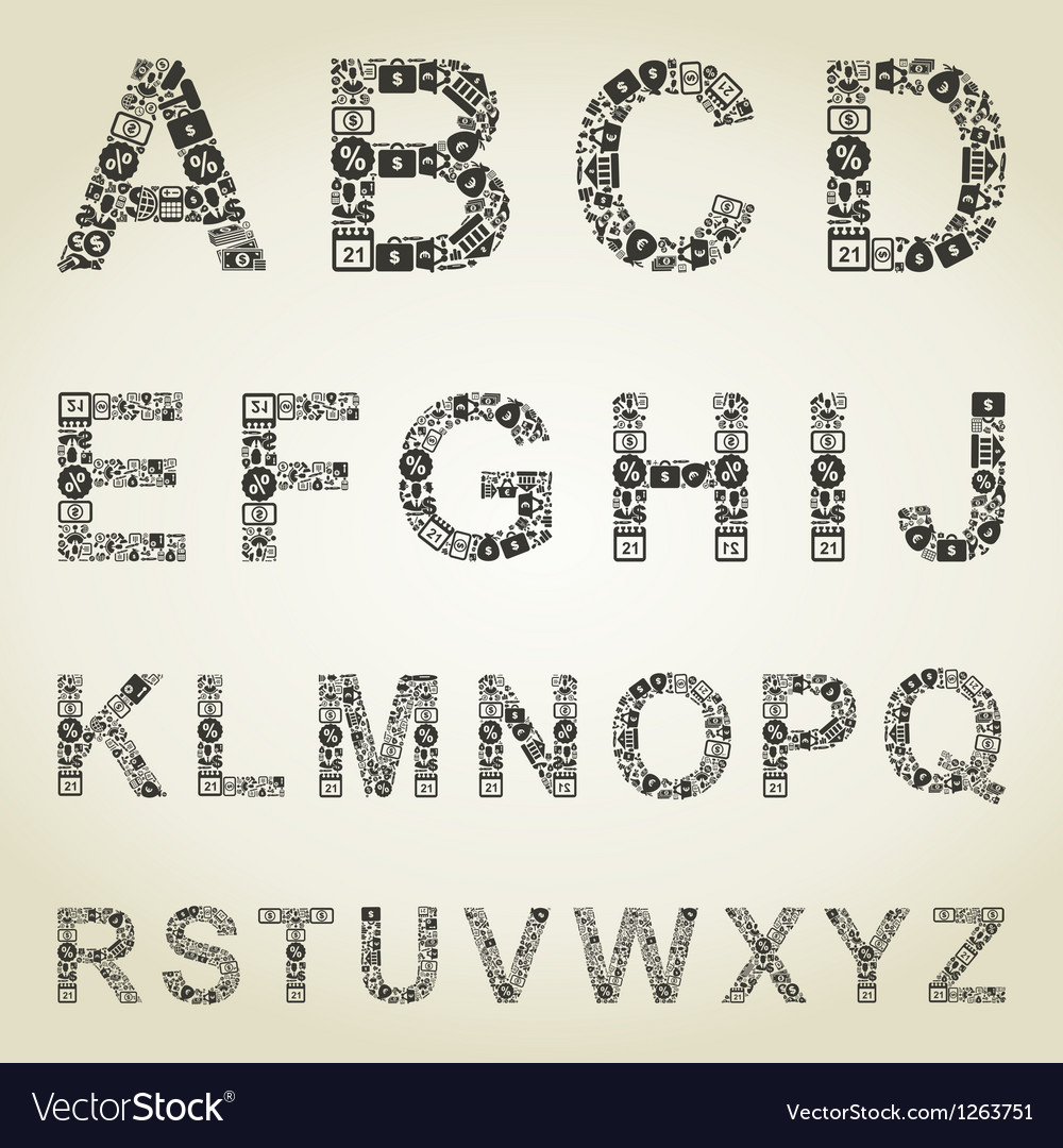 Alphabet business vector image