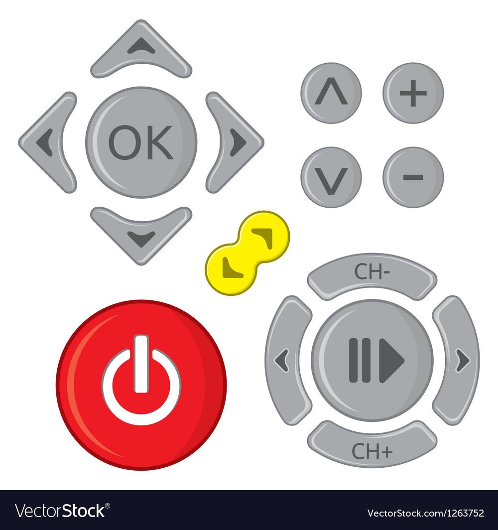 Remote control set Vector Image