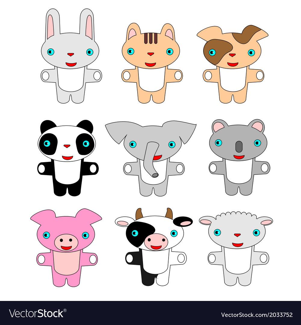 Animals pets cartoon vector image