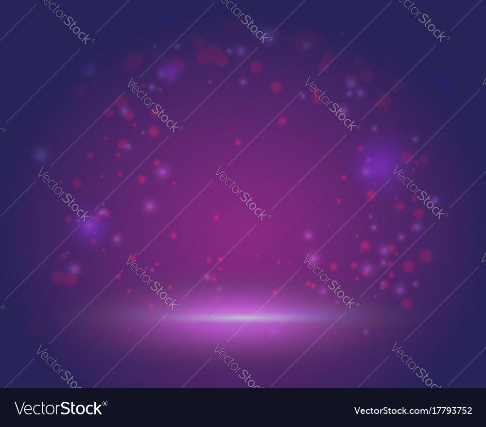 Magic scene beautiful background blank template vector image