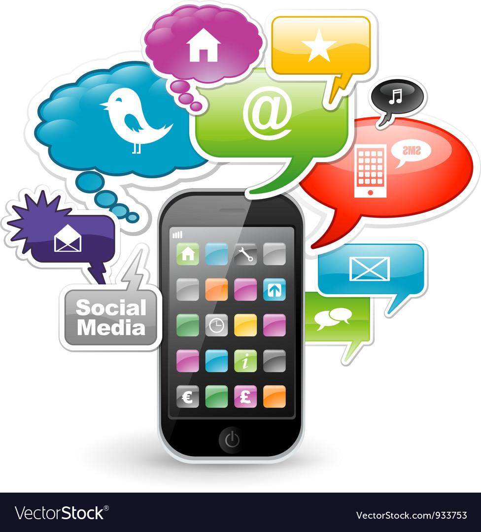 Smartphone app design vector image