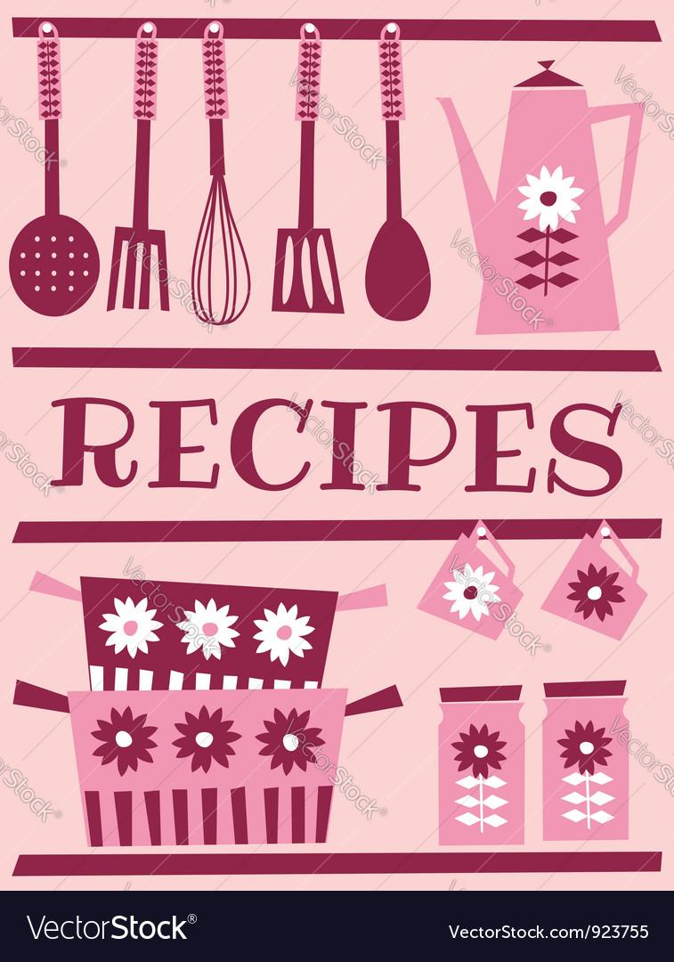 Recipe card design vector image