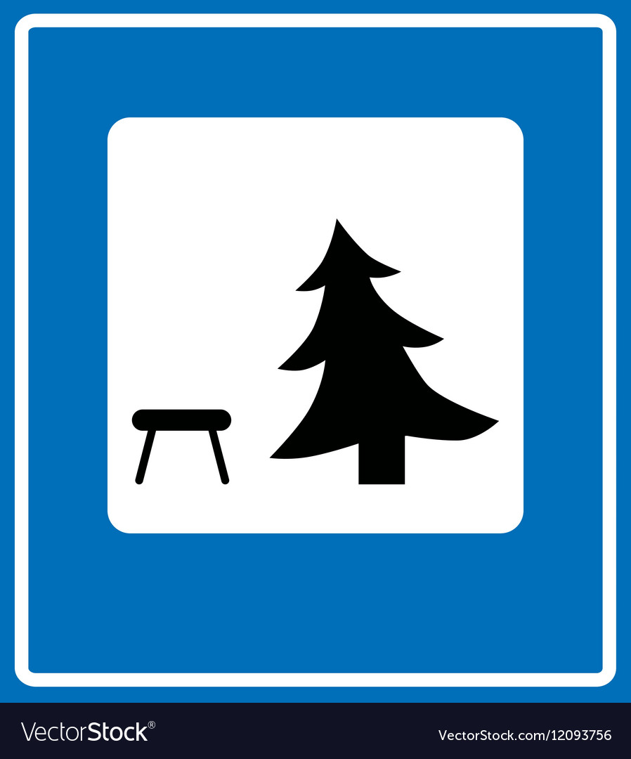 Icon showing a picnic table royalty free vector image icon showing a picnic table vector image biocorpaavc