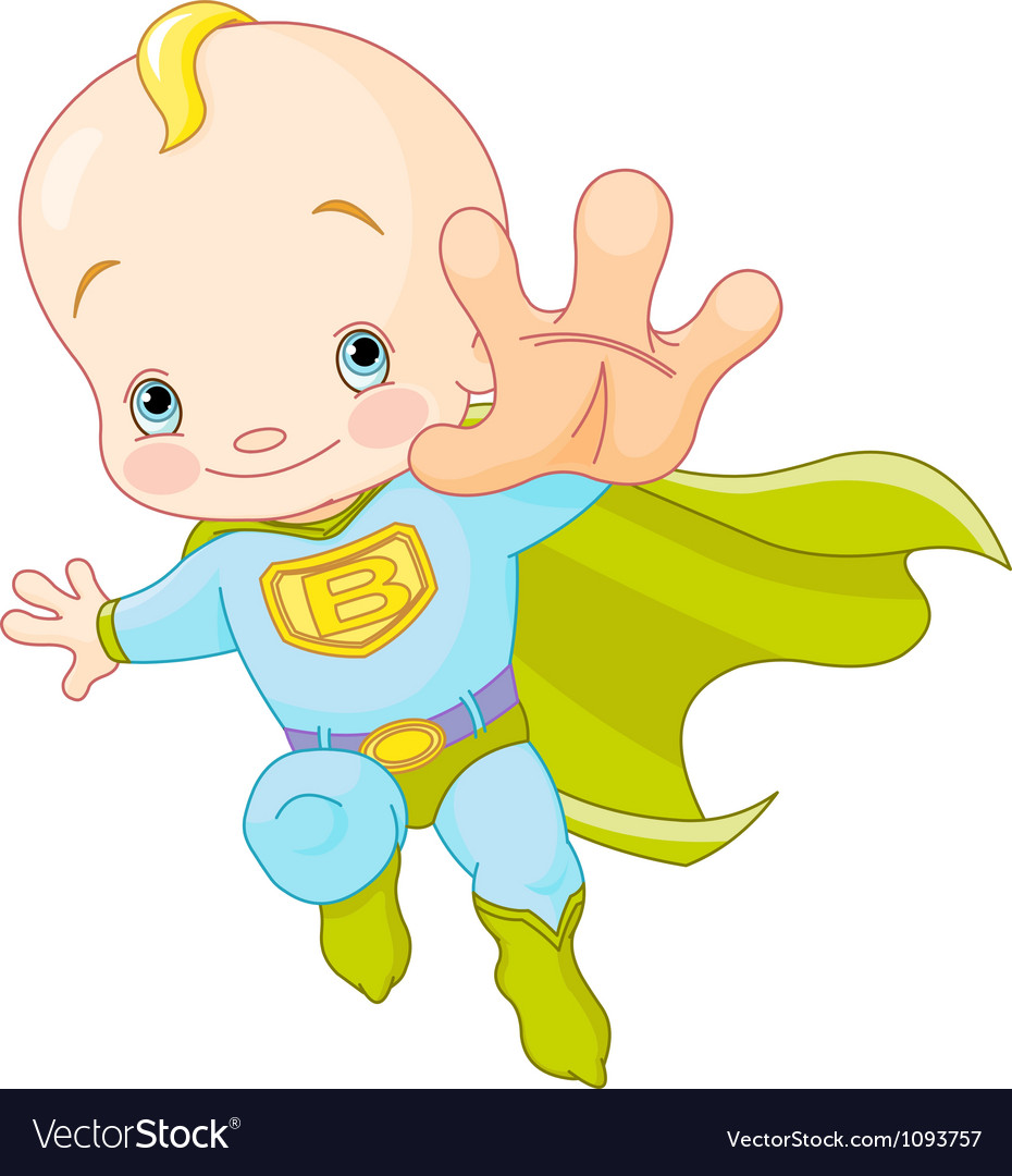 Super Baby vector image