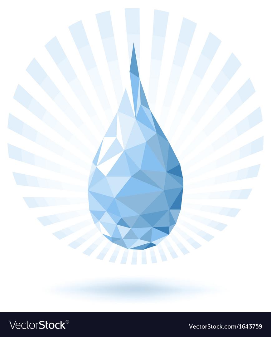 Abstract Water Drop vector image