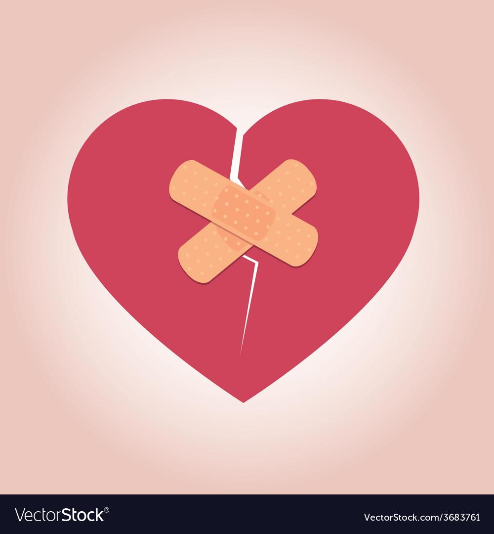 Heart Broken Icon vector image